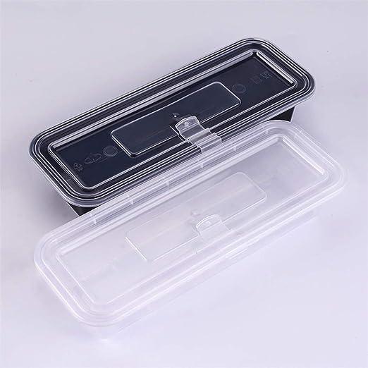 Qifengshop Caja de Sashimi de Sushi Fresco Desechable de Plástico Sellado - Fiambrera Especial de Cocina Japonesa [50 Pack]: Amazon.es: Hogar