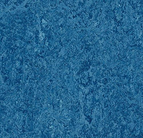 Forbo Marmoleum Blue Natural Linoleum Tile Flooring - 13'' x 13'' x 0.08'' (53.82 sf / box) by Forbo