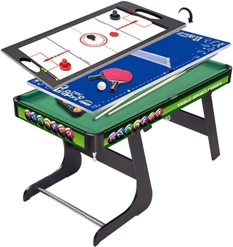Piarner 3-en-1 Los niños de múltiples funciones de múltiples funciones de madera mesa de billar Mesa de ping pong combinado de hockey sobre hielo Mesa de billar entre padres e hijos de Entretenimiento