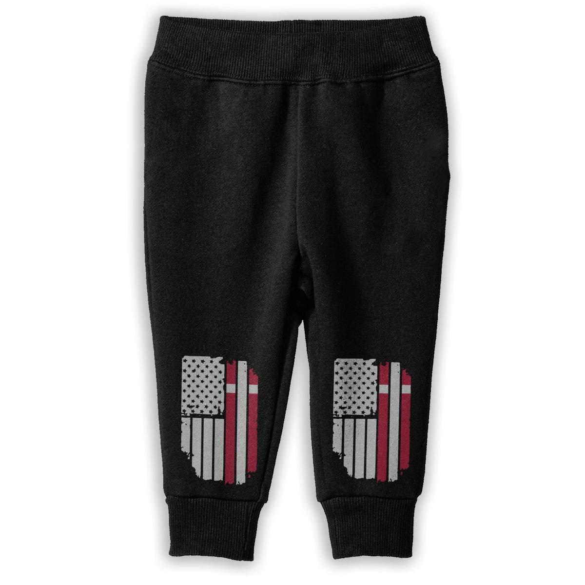 Baby Boys Athletic Pants NJKM5MJ Danish American Flag Sweatpants