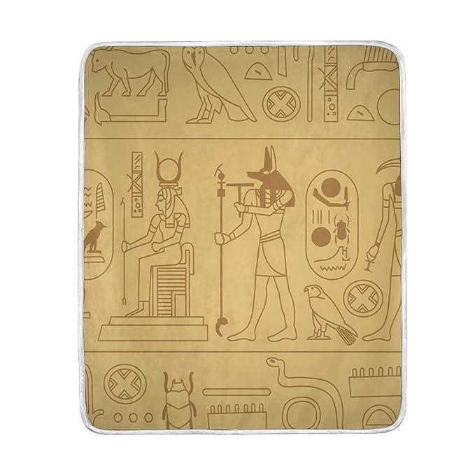 Amazon.com: Decopik Ancient Egyptians Pyramid Throw Blanket ...