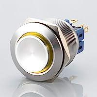Utstickande LED-omkopplare – diameter Ø 25 mm – tillverkad av V2A rostfritt stål – damm och vattentät enligt IP67…