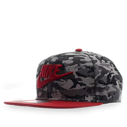 Nike True Cap Camo 2 Gorra, Niños, (Atmosphere Grey/University Red)