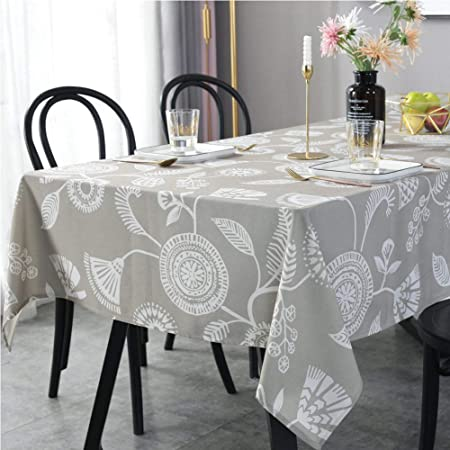 DOTBUY Nappe de Table Rectangulaire Tissu Lavable Entretien Facile R/ésistant Multi-usages Int/érieur et Ext/érieur Anti-Salissure /Étanche