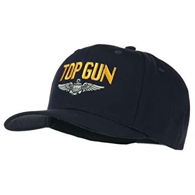 c62dca2caa1b5d Navy Top Gun with Wing Embroidered Twill Cap - Navy OSFM at Amazon ...
