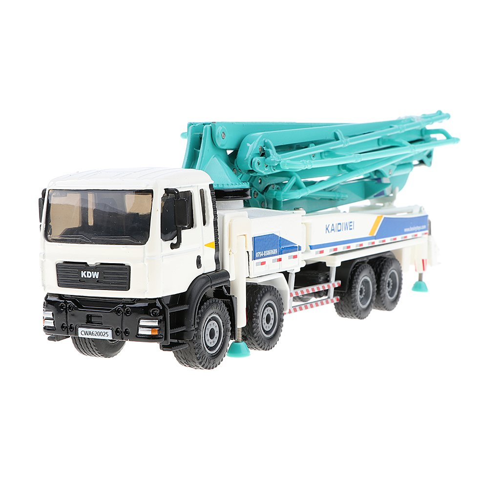 KDW 1//55 Scale Diecast Alloy Concrete Pump Truck Construction Vehicle Model Toys