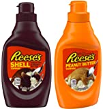 Reese's Chocolate & Reese's Peanut Butter Toppings 2 Set / 7.25oz & 7oz. Perfect combo for any dessert or ice cream…