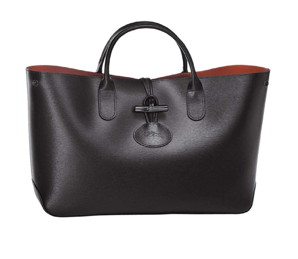 c3f791de66fb Amazon.com  Longchamp Roseau Ladies Medium Leather Tote Handbag  L1986871001  Watches