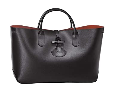 46d9c3a03dd Amazon.com: Longchamp Roseau Ladies Medium Leather Tote Handbag  L1986871001: Watches
