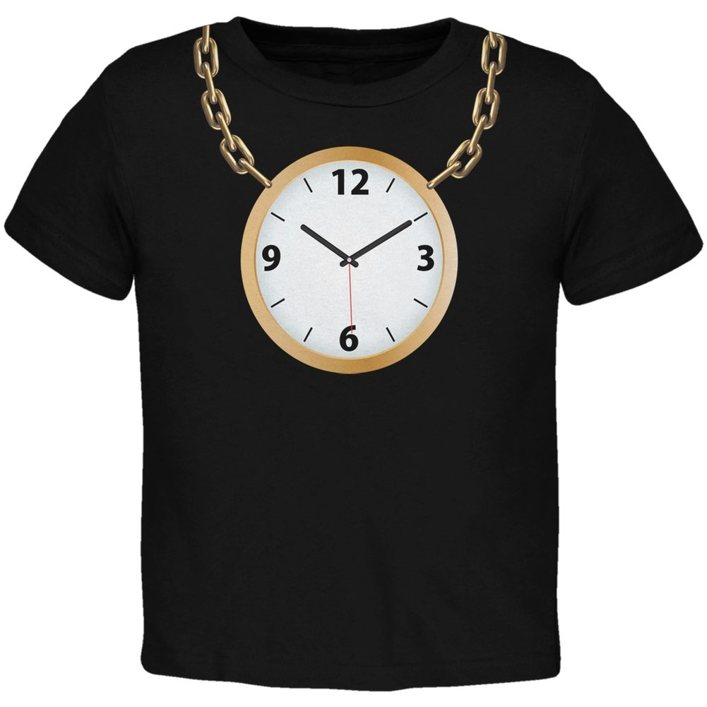 Old Glory Clock Necklace Black Toddler T-Shirt