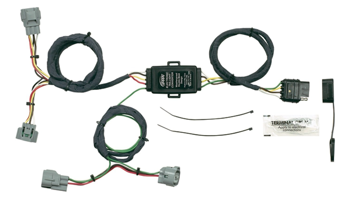 61J3Pn4wzzL._SL1500_ amazon com hopkins 43355 plug in simple vehicle wiring kit hopkins 43355 wiring harness at gsmx.co