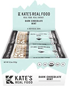 Kate's Real Food Mint Bars - 6-Pack Dark Chocolate Mint, One Size