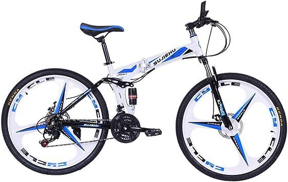 Bicicleta Plegable De Montaña, Frenos De Disco Doble De 26 ...