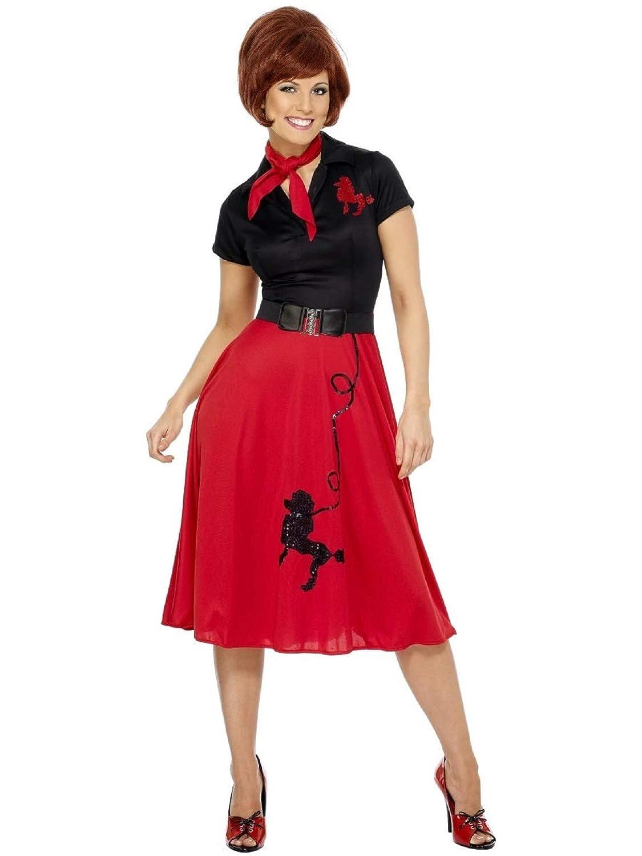 Generique - Disfraz de Rock nroll de los años 50 para Mujer ...