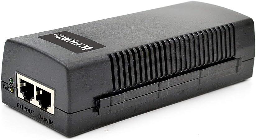 Yosoo Health Gear POE Splitter Adapter Black POE Injector Power Over Ethernet Injector Adapter For LAN Network