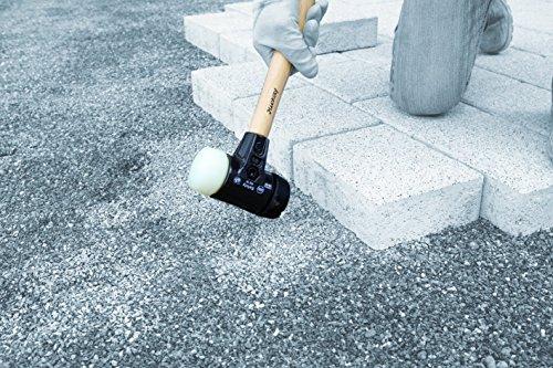 Wiha Safety Schonhammer / Hammer mit Härtegrad 5 - schwarz, orange transparent / Kunststoffhammer rund, Gewicht 300 g, Länge 290 mm, Ø 30 mm