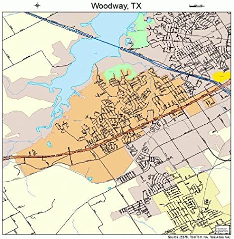 Amazon Com Large Street Road Map Of Woodway Texas Tx Printed