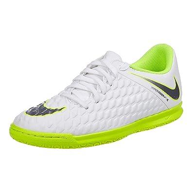 7e820718924 Nike Unisex Kid s Jr Hypervenom 3 Club Ic White MTLC Cool Grey Football  Shoes-