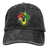 We Will Rise up Africa Map Denim Hat Adjustable Women's Casual Baseball Hats