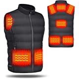 Smart Heated Vest, USB Charging Heating Clothes with 8 Heating Zone for Men and Women, Ideal for Outdoor, Fishing…