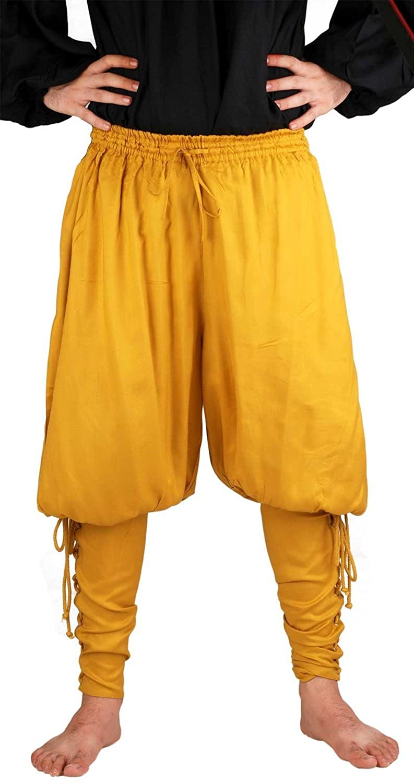 ThePirateDressing Pirate Medieval Renaissance Captain Cottuy Pants Costume C1015 [Gold]
