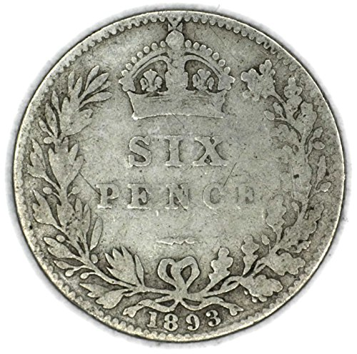 1893 UK Queen Victoria British Silver