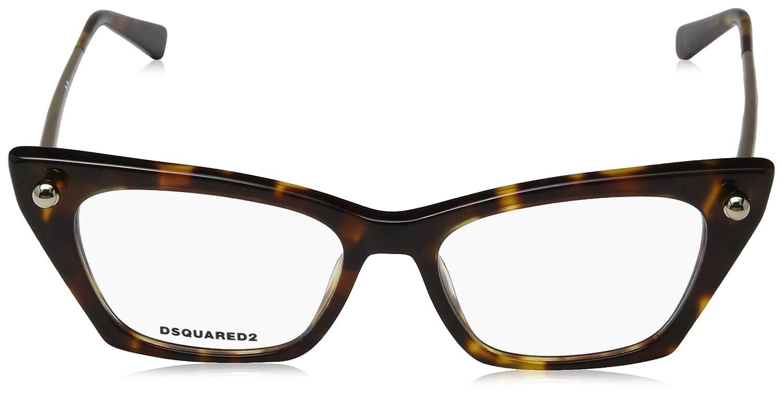 Braun , Dsquared2 Unisex-Erwachsene DQ5245 052 51 Brillengestelle AVANA SCURA