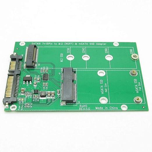 Disco Duro USB 3.0 7 + 15 Pines a mSATA y NGFF M.2 SSD 2 en 1 ...