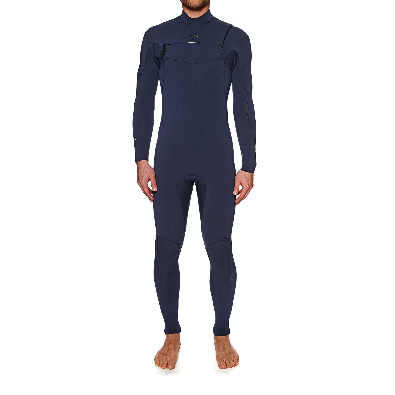 BILLABONG 2018 Furnace Comp 3 2mm Chest Zip Wetsuit Heather Blau H43M10