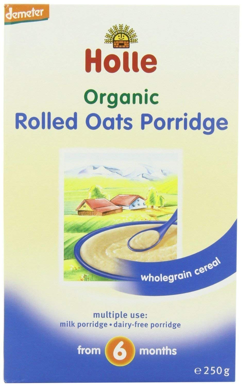 Holle Organic Baby Porridges - Rolled Oats Porridge - Single Carton, 250g (Pack of 2)