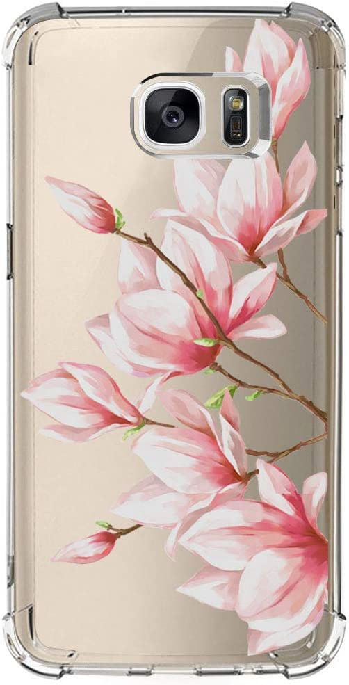 Samsung Galaxy S6 Edge Case with Flowers, IESSVI Floral Pattern case for S6 Edge (14)