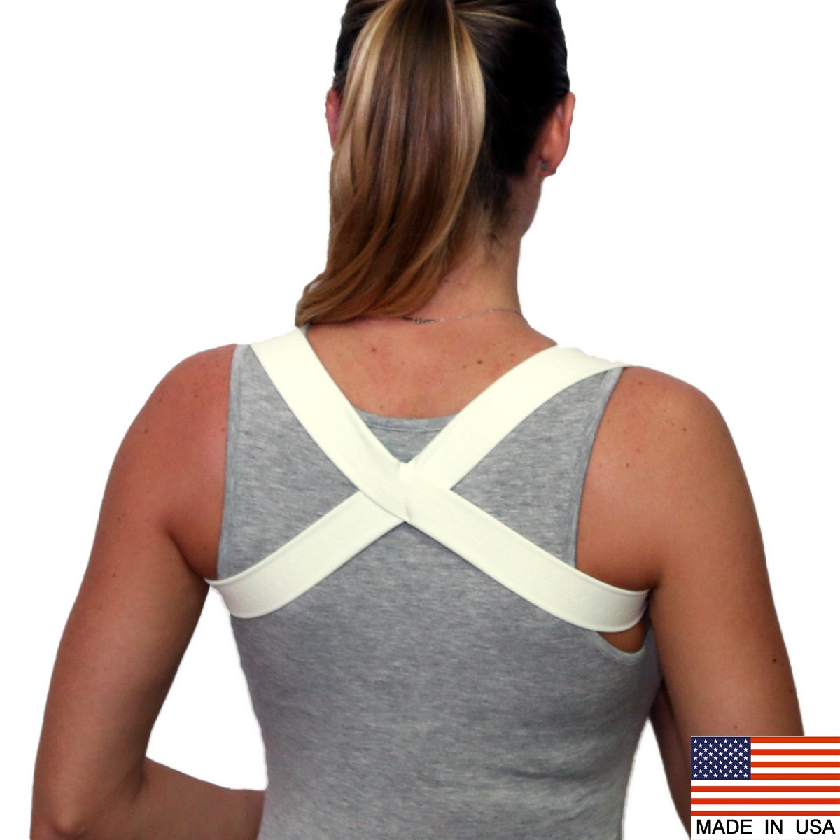 Amazon.com: POSTURE BRACE / SHOULDER SUPPORT - THE 2 IN 1 POSTURIFIC BRACE (BEIGE XLARGE) : Health & Personal Care