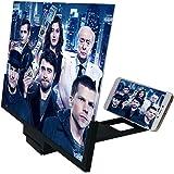 14 inch Large Screen HD Mobile Phone Screen Amplifier Multifunctional Folding Magnifying Glass Watching TV 3D Amplifier,Black