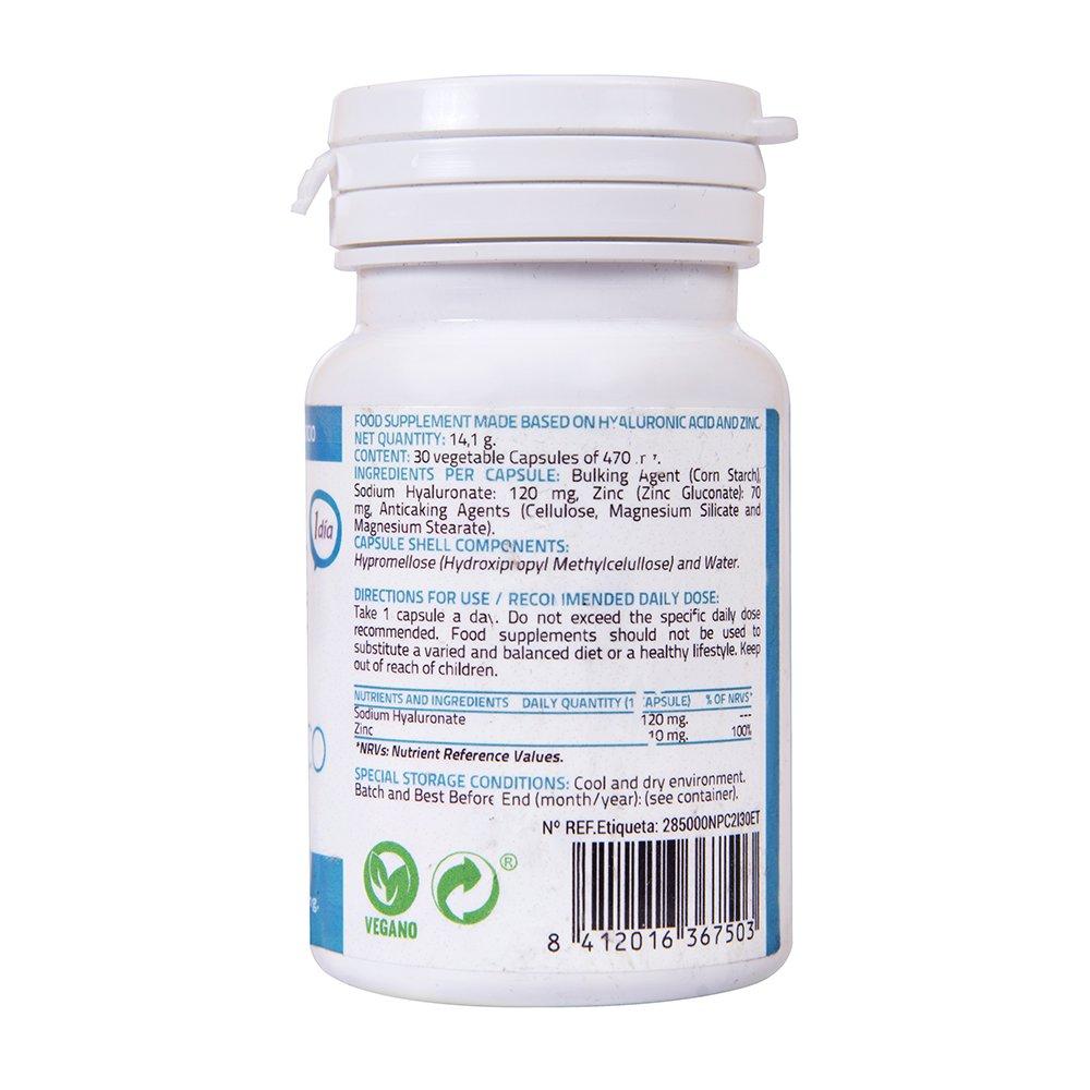 Acido Hialuronico, Zinc, antioxidante natural, hidratación para la piel, reduce arrugas y líneas de expresión, ideal para combinar con serum facial, ...