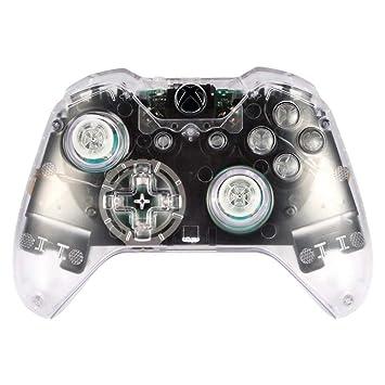 eXtremeRate Conjunto Completo de Carcasa Funda Cubierta Protectora Kit de Botones de reemplazo y Destornilladores para Mando de Xbox One Original con ...