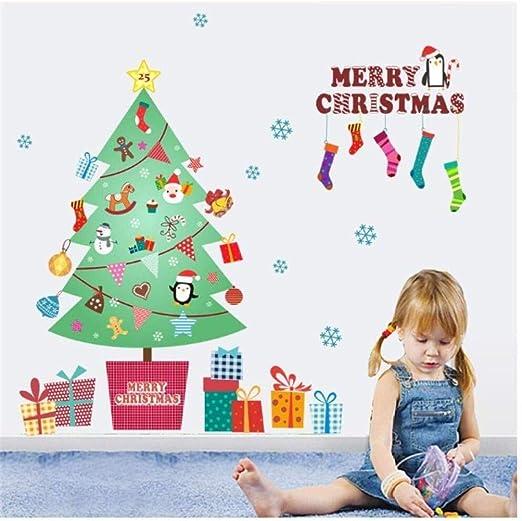 WFF Engomadas de la Pared de Navidad Feliz Navidad árbol ...