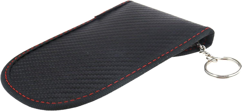 OTOTEC 2 x Fibra di Carbonio Veicolo Senza Chiave Auto Faraday Gabbia antifurto Protezione Segnale RFID Blocco Portachiavi Tasca