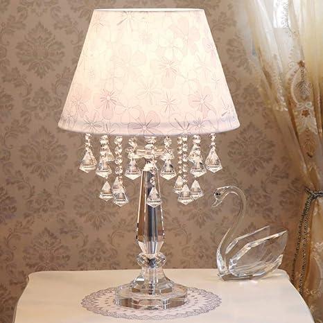 de mesa de europea Lámpara mesita de cristal lámpara de thCQsrdx