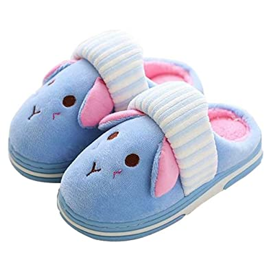 e91fec8961d97 Cute Bunny Scuff Slippers Fluffy Foam Anti Slip House Slide Shoes for Boys  Girls Little Kids