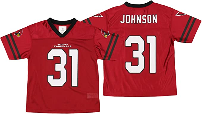 Outerstuff Arizona Cardinals David Johnson #31 NFL Boys Youth (4-18) Team Color Jersey, Red