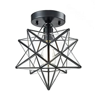 Axiland industrial black copper moravian star ceiling light 12 axiland industrial black copper moravian star ceiling light 12 inch clear glass shade 1 aloadofball Images