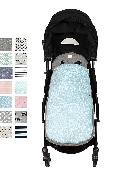 Fundas BCN ® - SC37/6101 - Saco de algodón de entretiempo para Yoyo ® y gemelares - Estampado Blue Safari