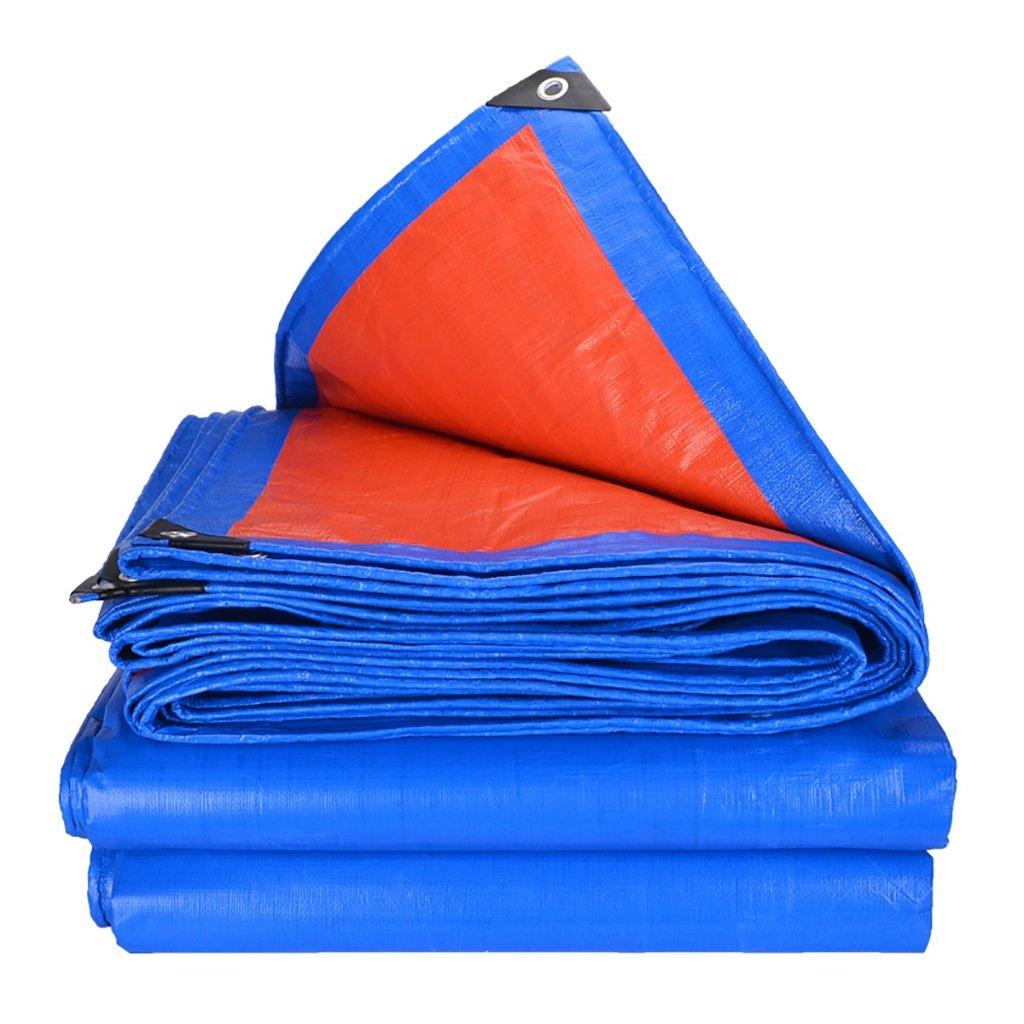 ZCCPB Paño Impermeable a Prueba Prueba Prueba de Lluvia PE Lona Paño Impermeable Parasol Impermeable a Prueba de Viento Paño Naranja Lluvia Azul (Tamaño : 4  4m) 3f80c9