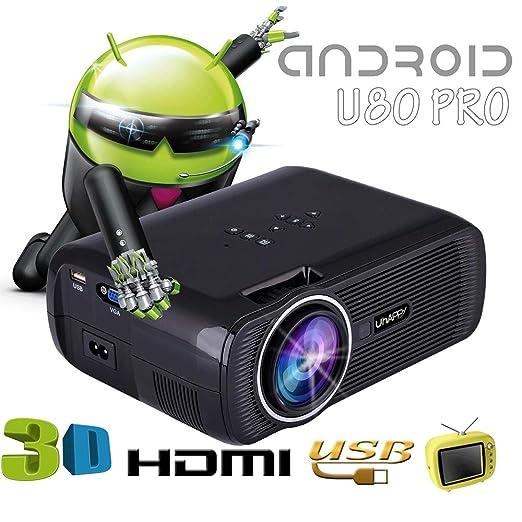 HLKYB Proyector Full HD, versión LED Mini proyector de Video ...