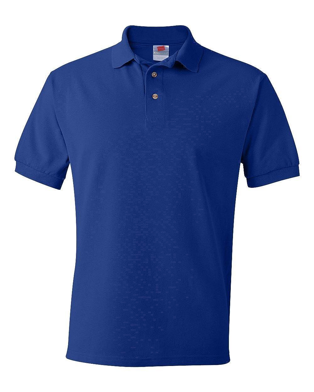 Hanes Hombres Comfortblend Ecosmart Jersey Polo - Pequeña Granate ...