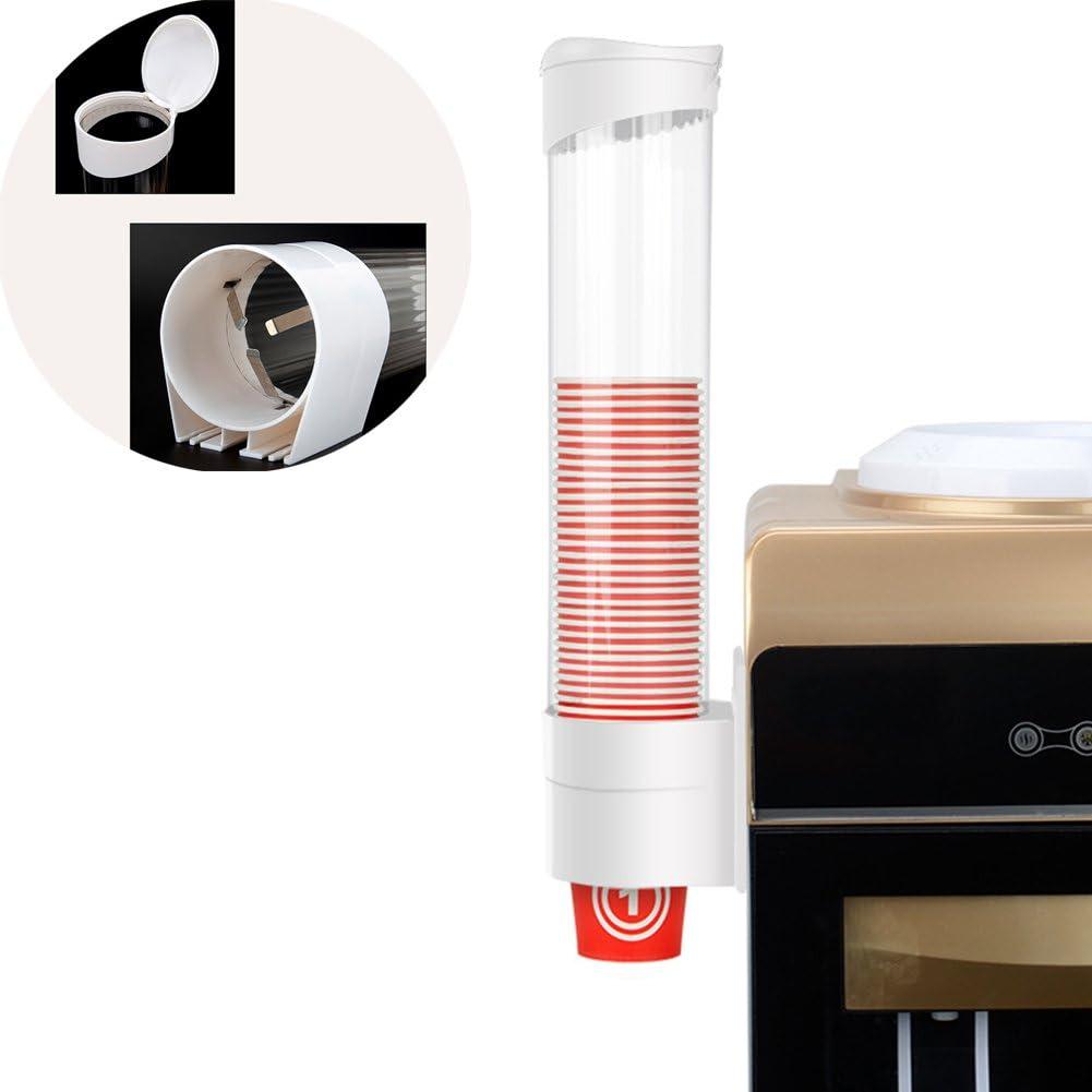 organizador 9 * 41.5cm blanco Dispensador de vasos desechables de papel dispensador de polvo soporte de pared de pl/ástico dispensador de vasos dispensador de vasos posavasos de almacenamiento