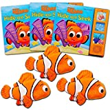 Disney Pixar Finding Nemo Party Favors Pack -- Set of 3 Stuffed Plush Toys (8'') and 3 Board Books (Finding Nemo Party Supplies)