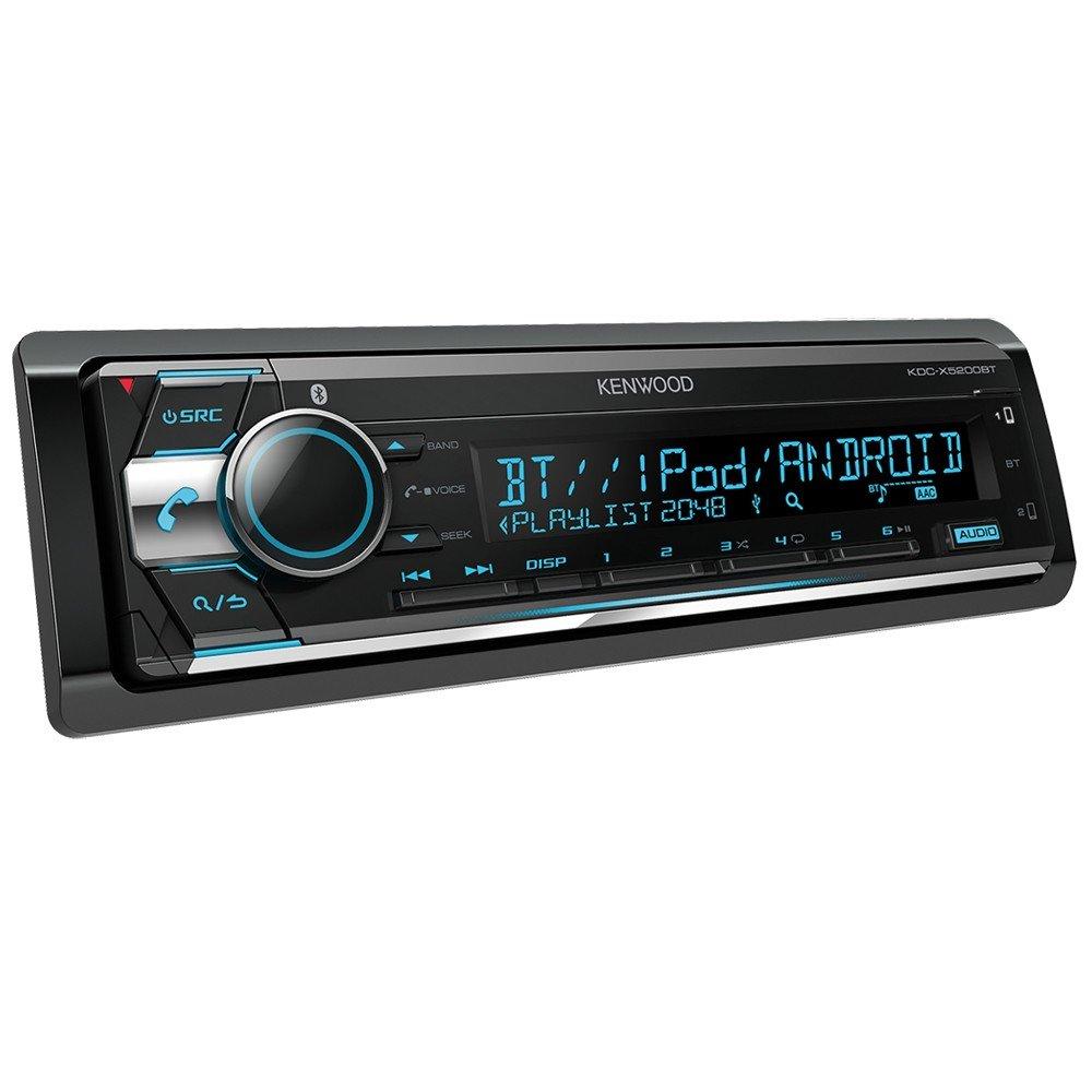 Kenwood KDC-X5200BT CD-Receiver mit Bluetooth-Freisprecheinrichtung und Apple iPod-Steuerung schwarz KDCX5200BT