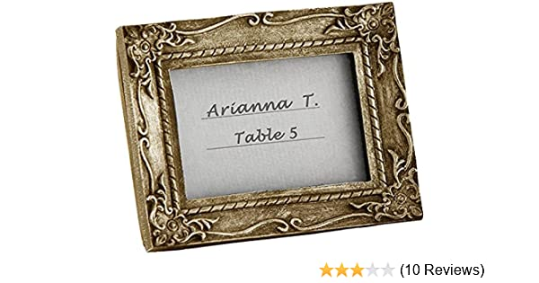 Amazon.com: Antique Gold Place Card Holder, Picture Photo Frame ...