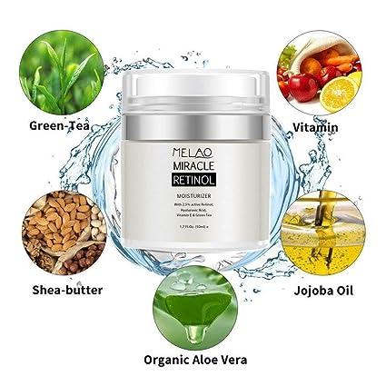 Retinol Miracle crema hidratante, antienvejecimiento puro retinol crema para cara y ojos, retinol,